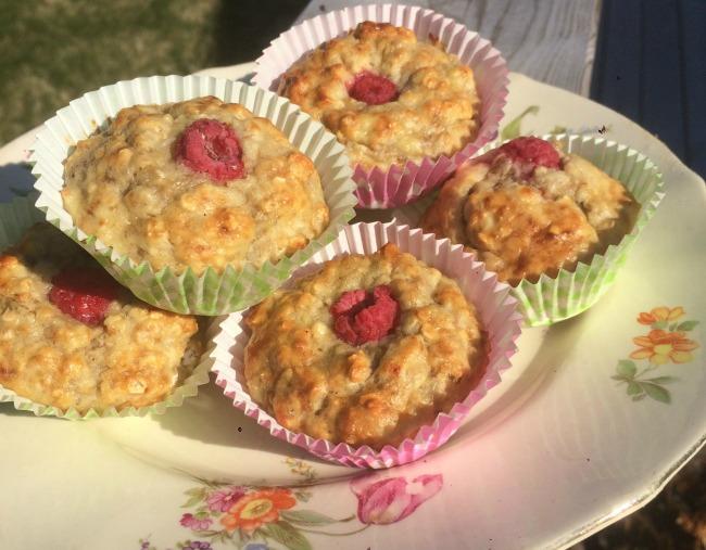 Kolmen aineksen, terveelliset, muffinssit (gluteeniton)
